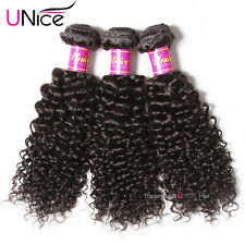 "UNice 7A Brazilian Virgin Curly Hair 3 Bundles/300g Brazilian Human Hair 8""10""12"