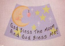JG God Bless Me & Moon HP Handpainted Needlepoint Canvas