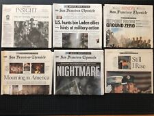 San Francisco Chronicle SEPTEMBER 12 2001 + extras 9/11 New York WTC Ground Zero