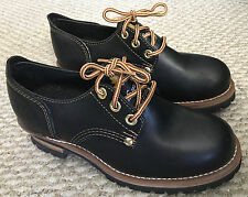 Smack Womens Shoes Black Leather Chunky Heel Lug Sole Oxfords Ladies Size 8