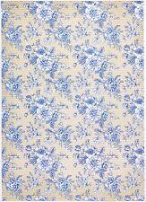 Rice Paper for Decoupage Decopatch Scrapbook Craft Sheet Blue Roses Wallpaper