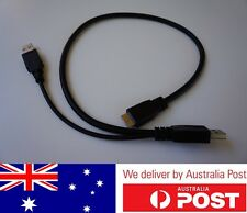 USB3.0 Y Cable Type A Male to Micro B Male + External Power Supply