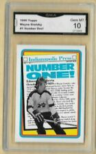 1990 Topps Wayne Gretzky Indianapolis Press Number One Edmonton Oilers #1 GMA 10