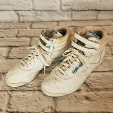 REEBOK Classic Freestyle Womens Size 8.5 White Hi Tops Sneakers 2-1619 j5c