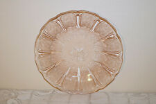 "Jeannette Glass PINK CHERRY BLOSSOM Depression U.S.A. 9"" Dinner Plates (5)"