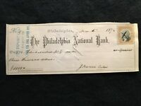 COMMERCIAL EXCHANGE BANK CHECK 1898 ADRIAN MICHIGAN CHANNING WHITNEY SIGN /& PICT
