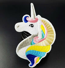 Unicorn Rainbow Cute Embroidered Iron On Sew On Patches Badges Transfer Patch
