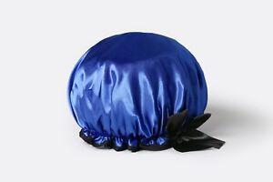 Beauty Coconut Oil-Apotheosis Cobalt Blue Satin Hair Cap