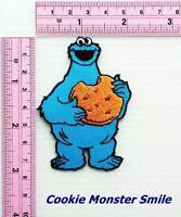 Cookie Monster Smile Sesame Street Cartoon DIY Bert Movie TV Show Iron on Patch