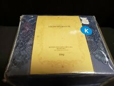 New Highgate Manor King Size Duvet Cover W Shams Kensington Easy Care Lace Blue