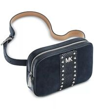 ❤️ Michael Kors Studded Navy/Silver S/M Fanny Pack