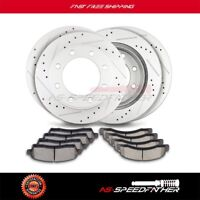 2X Front Brake Rotors Discs And 4X Ceramic Pads For Ford Fusion 2006 2007-2012