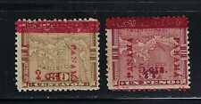 Panama 1906 Sc#182-3 Stamps of Columbia 1892-6 Surch. in Vermilion/Carmine MH