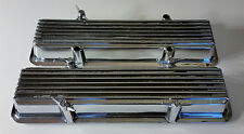 Vintage Keystone KVCL Finned Chrome Valve Covers SBC Small Block Chevy with Bolt