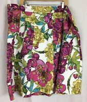 Lane Bryant SKIRT A Line Floral Cotton Blend PLUS Size 22