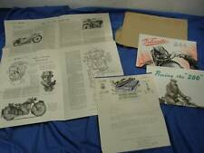 Original Velocette Factory Sales Brochure 1952 Packet, MAC & LE, Excellent! VE10