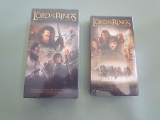 VHS LORD OF THE RINGS LOT SET 3 RETURN OF THE KING FELLOWSHIP RING NEW SEALED