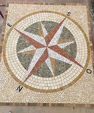 Rosoni rosone mosaico in marmo ,rosa dei venti cm 200x180