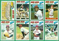 1977 TOPPS BOSTON RED SOX TEAM SET  NM   LYNN  RICE  EVANS  LEE  TIANT FISK  YAZ