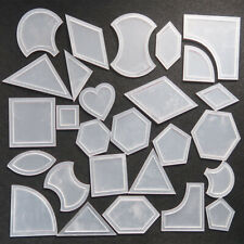 Set Of 54 Acrylic Ruler Quilt Patchwork Template Quilting Sewing DIY Tool Craft