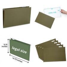 Blue Summit Supplies Legal Size Hanging File Folders, 1/5 Cut Green,
