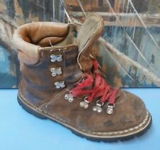 Vintage Mountaineer Hiking Boots Mountaineering Men 9 Brown
