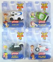 Disney Pixar Toy Story 4 Minis - Figure & Vehicle Pack Complete Set of 4