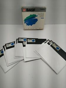 """12 BASF Double Sided Double Density 5.25"""" Floppy Disks"""