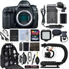 Canon EOS 5D Mark IV 30.4MP Full Frame 4K DSLR Camera Body + 64GB Pro Video Kit