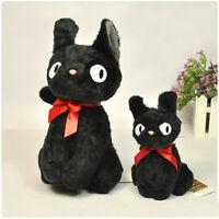 2PC 10/24CM Ghibli KIKI'S DELIVERY SERVICE JIJI Black Cat Plush Kids Toy Doll