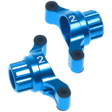TT02 Blue alloy Rear knuckle arms-Hubs for Tamiya TT-02 2 Degree of toe in.