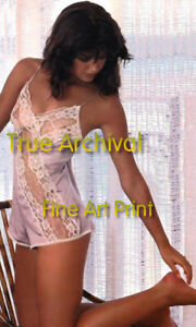 PHOEBE CATES Fast Time SEE THRU Neglige ** HI-RES PRO ARCHIVAL Photo (8.5x11)