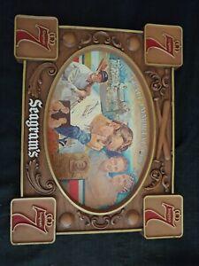 Seagrams 7 Lou Gehrig Baseball Immortal Farewell Speech Vintage Cardboard Sign