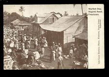 West Africa SIERRA LEONE FREETOWN Regent Rd Market Day 1921 PPC by Lisk-Carew Br