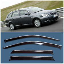 Chrome Trim Window Visors Guard Vent Deflectors For Toyota Avensis Wagon 2003-08