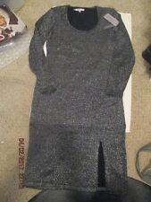 Womens Jennifer Lopez City Enchantment Black /silver dress size Large New w/tags