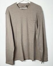 Next Men Sweatshirt T-Shirt Long Sleeve Peachy Grey Size XL 100% cotton