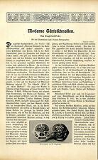 Moderne Gürtelschnallen Wolfers Entwürfe Goldschmiedearbeiten Jugendstil v.1903