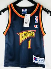 Authentic NWT Champion bogues Warriors curry infant NBA Basketball camiseta Jersey