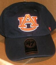 NEW NCAA Auburn Tigers Cleanup Adjustable Hat 47 Brand Structured Brim NEW NWT