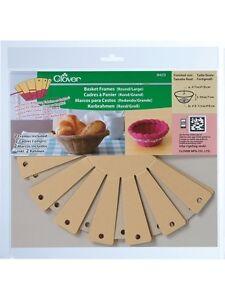Clover 8423: Korbrahmen / Basket Frames, rund / groß, 2 Stück-Packg. (4,45/St.)