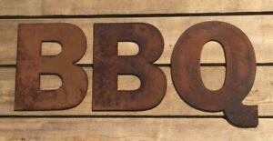 """Rusty 6"""" Letters """"BBQ"""" Sign"""