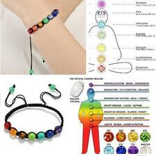 7 Chakra Healing Balance Bead Bracelet Yoga Life Energy Charm Bangle Jewelry Hot