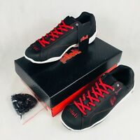 Piloti Mens Prototipo GT Driving Shoes Black Red Size 9