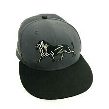 VINTAGE New Era MGM Grand Hat Cap Gray Gold Snapback Embroidered Adjustable Mens