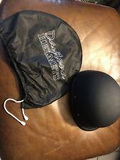 DAYTONA Novelty Hawk 1/2 Half Motorcycle Helmet Dull Black SIZE S