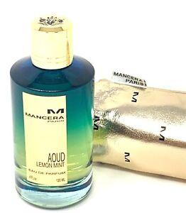 Mancera AOUD LEMON MINT  120ml / 4 Fl.Oz. Eau de Parfum Unisex NEW NO BOX