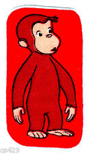 """4"""" CURIOUS GEORGE MONKEY RED  CHARACTER FABRIC APPLIQUE  IRON ON"""