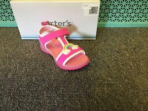 New Girls Carter's Feline Sandals Pink Size 11