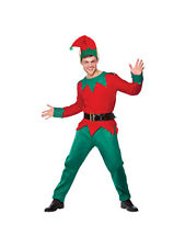Adult Mens Deluxe Xmas Elf Christmas Season Fancy Dress Costume (One Size) BN